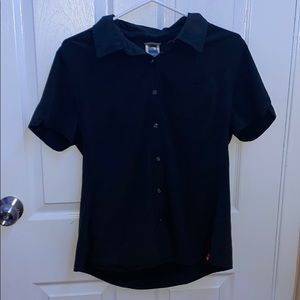 Black button up tee